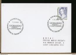 ITALIA - AREZZO -  LEONARDO DA VINCI - GENIO E CARTOGRAFO - Famous People