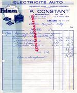 41- ROMORENTIN- FACTURE P. CONSTANT- ELECTRICITE AUTO-BATTERIES FULMEN-GARAGE AUTOMOBILE -1962 - Cars