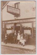 """Devanture Magasin Restaurant-Pension """"A L'Etoile Du Nord"""" à Situer - Commerce à Identifier - Postcards"""