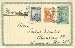 Turkey; 1926 Postal Stationery Sent From Mersin To Hamburg - 1921-... Republic
