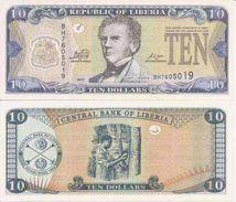 Liberia P-27f 10 Dollars 2011 UNC - Liberia