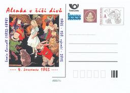 """Tschech. Rep. / Ganzsachen (Pre2015/24) 150. Jubiläumsausgabe Von """"Alice Im Wunderland"""" (1865) Lewis Carroll (1832-1898) - Nager"""