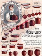 25- LAFESCHOTTE BEAUCOURT-GARE FESCHES LE CHATEL- LETTRE JAPY FRERES-ALIMENTAIRE ARTICLES CUISINE -PHENIX-ACIER 1902 - Alimentare