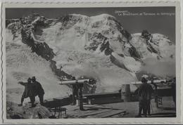 Zermatt - Le Breithorn Et Terrasse Du Gornergrat - Fernrohre, Animee - Photo: Perrochet-Matile - VS Valais