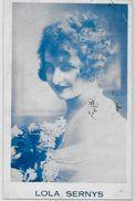 CPSM Autographe Signature à L'encre Circulé Lola SERNYS Voir Scan Du Dos - Autographes