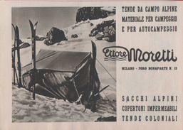 Advertising - Ettore Moretti. Tende Da Campo. Milano - Pubblicità 1938 - Pubblicitari