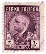(I.B) Italy (African Colonies) Revenue : Marca Da Bollo 20c (perf 11 X 13.5) - Italy
