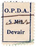 (I.B) Palestine Revenue : Customs Duty 5m (OPDA Devair) - Palestine