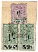 (I.B) QV Revenue : Consular Service 2/6d - 1840-1901 (Victoria)