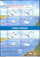 2017. Kyrgyzstan, WWF, Birds, Dalmatian Pelican, Sheetlet Perforated, Mint/ ** - Kyrgyzstan