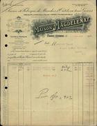 89 - CHATEL-GERARD - FACTURE - Scierie Et Fabrique De Manches D'outils - Maison Magdelénat - France
