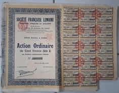 Lot De 24 ACTIONS TITRES De 100 Francs - Société Française LELOINE: 1926 - Andere