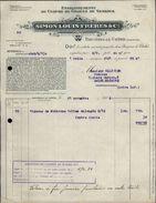 91 - BRUYERES-LE-CHATEL - FACTURE 1936 - Culture De Graines De Semence - France