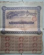 Lot De 20 ACTIONS TITRES De 100 Francs - La Paumellerie De L'Ouest: NANTES: 1907 - Andere