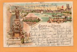 Gruss Aus Zurich Switzerland 1897 Postcard - ZH Zurich