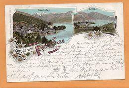 Gruss Vom Thuner See Oberhofen Spiez Switzerland 1897 Postcard - BE Berne