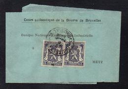 BRUXELLES / 1938 BANDE JOURNAL POUR METZ - FRANCE (ref 7782) - 1935-1949 Kleines Staatssiegel