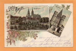 Gruss Aus Basel Switzerland 1897 Postcard - BS Bâle-Ville