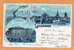 Souvenir De Lausanne Switzerland 1899 Postcard - VD Vaud