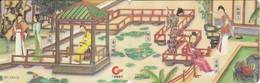 PUZZLE DE 2 TARJETAS DE CHINA GPTB DE UN JARDIN TIPICO - China