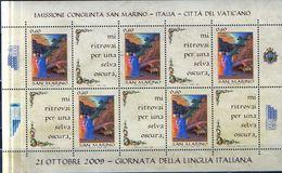 PIA - SAN MARINO - 2009 : Giornata Della Lingua Italiana - MF - MS   (SAS   Bf 96) - Nuovi