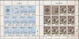 Malta Malte 1988  Yvertn° 773-774 *** MNH Feuillets Complètes Cote 50 Euro - Malte