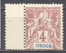 Obock: Yvert N°34*; Bord De Feuille; Cote 3.25€ - Unused Stamps