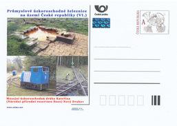 Tschech. Rep. / Ganzsachen (Pre2015/30) Industrielle Schmalspurbahn - Nationales Naturreservat SOOS Katerina (2) - Ferien & Tourismus