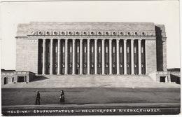 Helsinki - Eduskuntatalo - Helsingfors Riksdagshuset - 1933 -  (Finland) - Finland