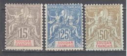 Soudan: Yvert N° 17/19* Cote 37.00€ - Soudan (1894-1902)