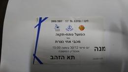 Israel-match Tickets-(11)-foot Ball-hapoel Petah Tikva-maccabi Ahi Nazareth-(30.12.2016)-(number-34499-435)-payler - Match Tickets