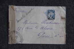 Lettre De MEXIQUE à FRANCE ( Controle Postal Militaire). - Mexique