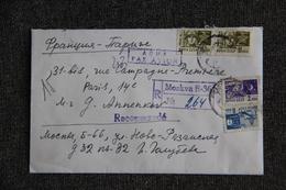 Lettre Recommandée De RUSSIE à FRANCE - 1923-1991 USSR