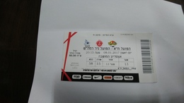 Israel-match Tickets-(19)-foot Ball-hapoel Tel Aviv-nit Ramat Hasharon(8.1.2017)-(number-4545440)-payler - Match Tickets