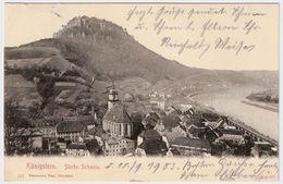 """1908, """" Königstein """"  , A161 - Königstein (Sächs. Schw.)"""