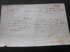 Notaire Cannes 1926 Manuscrit à Fille Au Cannet à Ex Capitaine Chalvin Certificat Pension... - Manuscrits
