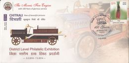 India  2014  Morris Fire Engine  Used By Firemen 100 Years Ago   Special Cover  #  04236  D    Inde Indien - Firemen