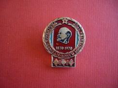 URSS 2 Pin's 100ème Anniverssaire Naissance Lénine - Pin's