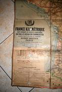 Carte Toilé De 1893 * Réseaux De Chemins De Fer * Ditot Bottin Paris , Sncf , Trains - Europe