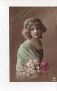 Grete Reinwald Souriante Heureux Anniversaire Avec Fleurs - Portraits