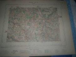 CARTE GEOGRAPHIQUE _ G - Format  45 X 57  De La VIENNE _ Feuille  LUSSAC  XIII_23 ) En 1889 - Geographische Kaarten