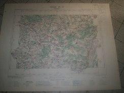 CARTE GEOGRAPHIQUE _ G - Format  45 X 57  De AUBE _COTE-D'OR_YONNE_ Feuille  TONNERRE  XX_ 17 ) En 1889 - Geographical Maps