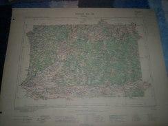 CARTE GEOGRAPHIQUE _ G - Format  45 X 57  De CHARENTE_ CHARENTE-INF_DORDOGNE_GIRONDE_Feuille  COUTRAS XII_ 28 ) En 1893 - Geographische Kaarten