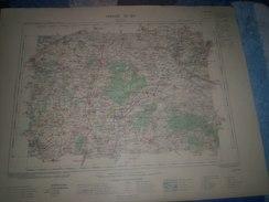 CARTE GEOGRAPHIQUE _ G - Format  45 X 57  De CHARETE-INFF_DEUX-SEVRES_ Feuille  AULNAY  XI_ 24 ) En 1907 - Geographische Kaarten
