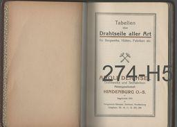 ADOLF DEICHSEL DRAHTWERKE UND SEILFABRIKEN / TABELLEN - Catalogues