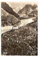 Chamonix Mont Blanc (74) Vue Aerienne ,l'hotel De Montenvers (1909 M ) Les Grandes Jorasses Et La Mer De Glaces - Chamonix-Mont-Blanc