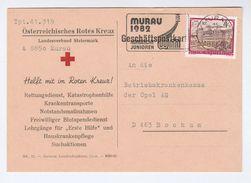 1985 Mauru  HELP THE RED CROSS COVER Card Austria Stamps Slogan Pmk Nordic Juniors Sport - Red Cross