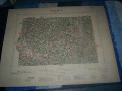 CARTE GEOGRAPHIQUE _ G - Format  45 X 57  De HAUTE-LOIRE _ PUY DE DOME_ Feuille  BRIOUDE  XIX_ 27 ) En 1898 - Geographische Kaarten