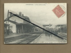 CPA    -   Longueville - La Gare  -  (côté Des Voies ) -voir Cachet De La Poste Au Verso - Autres Communes