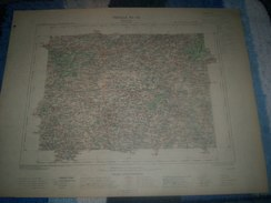 CARTE GEOGRAPHIQUE _ G - Format  45 X 57  De COTES Du NORD_ MORBIHAN_Feuille  PONTIVY_VI_ 16 ) En 1890 - Geographische Kaarten